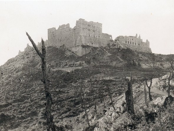 Image result for monte cassino before bombing
