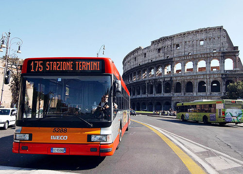 Rome's Public Transportation System, rome busses, navigating rome, colossuem, study abroad tips, studying abroad in Rome