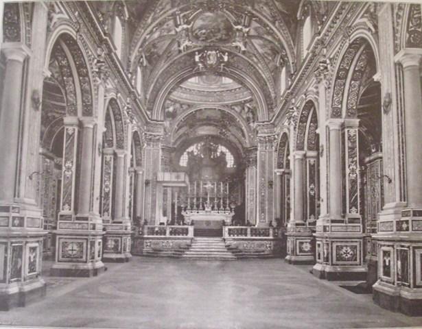 Cattedrale dell'Abbazia di Montecassino prima della distruzione.
